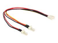 Bild von DELOCK Kabel Power Molex 3 Pin Buchse > 2x 3 Pin Stecker Lüfter