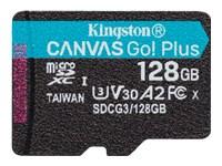Bild von KINGSTON 128GB microSDXC Canvas Go Plus 170R A2 U3 V30 Single Pack w/o ADP