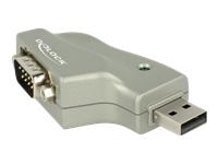 Bild von DELOCK Adapter USB 2.0 Typ-A > 1 x Seriell DB9 RS-232 110 gewinkelt