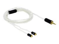 Bild von DELOCK Audio Kabel 2,5 mm 4 Pin Klinkenstecker zu 2 x MMCX Stecker 1,20 m