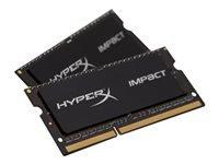 Bild von KINGSTON 16GB 1600MHz DDR3L CL9 SODIMM Kit of 2 1.35V HyperX Impact Black