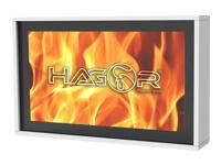 Bild von HAGOR HAG-BR-30-55 Brandschutzgehaeuse inkl starrer Wandhalter VESA 800x400 ESG-Glas F30 max Tragl 60 kg