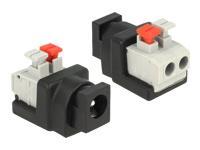Bild von DELOCK Adapter Terminalblock mit Drucktaste > DC 2,1 x 5,5 mm Buchse