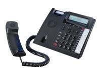 AGFEO T 18 schwarz analoges Telefon 3-zeiliges Display 3-stufiger Ger?te- Neigungswinkel Headsetanschl. schnurgebunden Clipfunktion