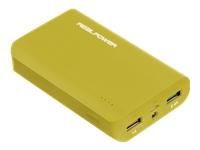 Bild von REALPOWER Mobiles Ladegeraet mit 2 Ladeports und 6000mAh Kapazitaet Powerbank