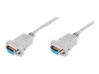 Bild von ASSMANN Null-Modem Kabel D-Sub9 w/w 1,8m beige bulk