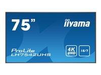 Bild von IIYAMA ProLite LH7542UHS-B1 189cm 75Zoll LCD 4K UHD IPS 3840x2160 Integrated iiSignage software E-Share Android OS black