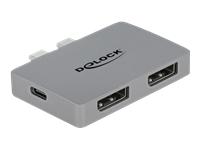 Bild von DELOCK Dual DisplayPort Adapter mit 4K 60Hz und PD 3.0 für MacBook