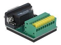 Bild von DELOCK Adapter Sub-D 9 Pin Buchse zu Terminalblock 9 Pin mit Drucktaster