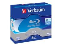 VERBATIM 5x BD-R 25GB 6x JC - Kovera Distribution