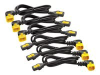 Bild von APC 6x Stromkabel C13 / C14 1,2m abgewinkelt
