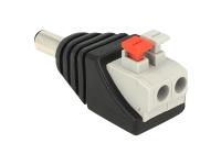 Bild von DELOCK Adapter Terminalblock mit Drucktaste > DC 2,1 x 5,5 mm Stecker