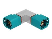 Bild von DELOCK Adapter HSD Z Stecker zu HSD Z Stecker gewinkelt