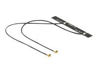 Bild von DELOCK Antenne Doppel WLAN MHF/U.FL-LP-068 kompatibler Stecker 802.11 ac/a/h/b/g/n 5 dBi 2x150mm PCB intern