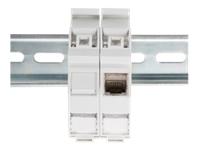 Bild von ASSMANN Hutschienen Adapter für 1x Keystone Modul IP20 inkl. Beschriftungsfeld und Staubschutz passend für DN-93617