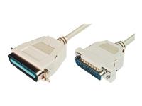 Bild von ASSMANN Drucker Anschlusskabel D-Sub25 - Cent36 St/St 1,8m parallel Schnapphauben be