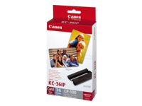 Bild von CANON KC-36IP Foto Papier inkjet 54x86mm 36 Blatt 10er-Pack with color ink cartridge for CP-100