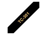 Bild von BROTHER P-Touch TC-301 gold auf schwarz 12mm