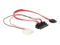 Bild von DELOCK Kabel Micro SATA 16 Pin St > 7 Pin + 5 V Molex 30cm gewinkelt