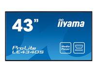 Bild von IIYAMA ProLite LE4340S-B1 108cm 43Zoll AMVA3 LED Backlight FullHD1920x1080 VGA DVI HDMI mit USB Mediaplayback speaker Querformat