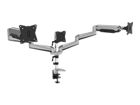 Bild von DIGITUS Dreifachmonitor-Halter für LCD/LED Monitor bis zu 69cm 27Zoll flexible Gasfederhalterung max Bel. 6kg max VESA 100x100