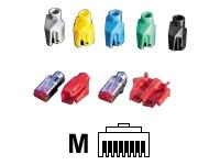 Bild von HIROSE 10x TM21 ModularStecker Cat6 geschirmt + Knickschutztuelle blau