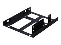 Bild von DIGITUS Einbaurahmen fuer bis zu 2x 6,4cm 2,5Zoll HDDs+SSDs in 8,9cm 3,5Z Schacht inkl. Schrauben + Klammer