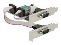 Bild von DELOCK PCI Express Karte > 2 x Seriell RS-232 High Speed 921K mit Spannungsversorgung