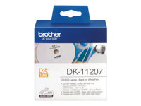 Bild von BROTHER P-Touch DK-11207 die-cut CD / DVD label film diameter 58mm 100 labels
