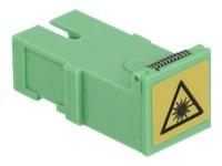 Bild von DELOCK Kupplung mit Laserschutzklappe SC Simplex Buchse zu SC Simplex Buchse 4 Stück