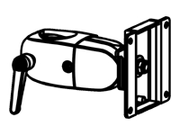 Bild von ERGOTRON DS100-Einzelklemmgelenk kann an jedem Punkt entlang einer DS100-Stange befestigt werden