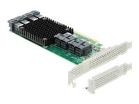 Bild von DELOCK PCI Express x16 Karte zu 8xintern SFF-8643 NVMe - Low Profile Formfaktor