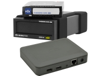 Bild von Bundle TANDBERG RDX External drive black USB3+ interface + 2xRDX 5.0TB Cartridge + SILEX DS 600 USB3 Device Server