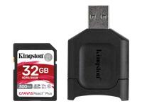 Bild von KINGSTON 32GB SDHC React Plus SDR2 + MLP SD Reader