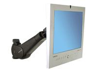 Bild von ERGOTRON LCD Schwenkarm Serie 400 schwarz bis 68,6cm 27Zoll max 10,4kg.VESA 75x75 100x100 neigen schwenken drehen Wandhalterung