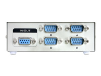 Bild von DELOCK SWITCH 4-port RS-232 manuell
