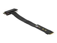 Bild von DELOCK M.2 Key M zu PCIe x4 NVMe Adapter gewinkelt mit 20cm Kabel
