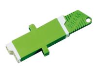 Bild von ASSMANN LWL Kupplung Simplex E2000 8 APC SM Keramikferrule Farbe Grün inkl Befestigungsschrauben