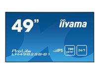 Bild von IIYAMA ProLite LH4982SB 124.46cm 49Zoll IPS LED 8ms 1920x1080 700cdm² 1300:1 typisch Signaleingänge VGA Component Video Mini-Jack
