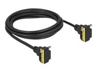 Bild von DELOCK DVI Kabel 18+1 Stecker gewinkelt zu 18+1 Stecker gewinkelt 2m