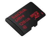 SANDISK Ultra 128GB microSDXC UHS-I Card Class10 80MB/s inkl. Adapter