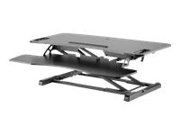 Bild von DIGITUS Höhenverstellbarer Sitz-Steh Arbeitsplatz 95x61x11-46cm Tastatur und Maus ablage weiss