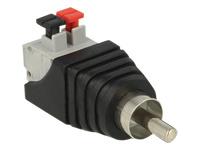 Bild von DELOCK Adapter Terminalblock mit Drucktaste > Cinch Stecker