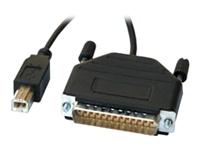 Bild von SECOMP Konverter Kabel Parallel nach USB 25Pol Sub-D auf USB Typ-B 1,8m