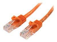 Bild von STARTECH.COM 0,5m Cat5e Ethernet Netzwerkkabel Snagless mit RJ45 - Cat 5e UTP Kabel - Orange