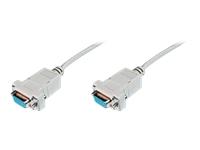 Bild von ASSMANN Null-Modem Kabel D-Sub9 Bu/Bu 3m bulk beige