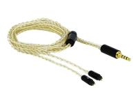 Bild von DELOCK Audio Kabel 3,5 mm 4 Pin Klinkenstecker zu 2 x 2 Pin Stecker 1,25 m