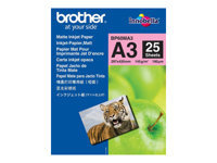 Bild von BROTHER BP60MA3 Inkjetpapier matt A3 25BL 145g/qm fuer MFC-6490CW 6890CDW