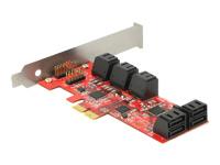 Bild von DELOCK PCI Express Karte > 10 x intern SATA 6 Gb/s – Low Profile Form Faktor
