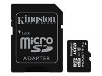 Bild von KINGSTON 16GB microSDHC UHS-I Class 10 Industrial Temp Card + SD Adapter